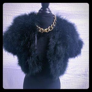 bebe faux fur short coat